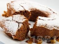 Рецепта Австрийски лешников сладкиш (кейк) с ябълки, канела и шоколад